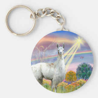 Cloud Angel and Llama Keychain