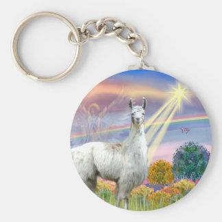 Cloud Angel and Llama Keychain