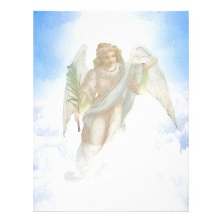 Cloud Angel Background Letterhead