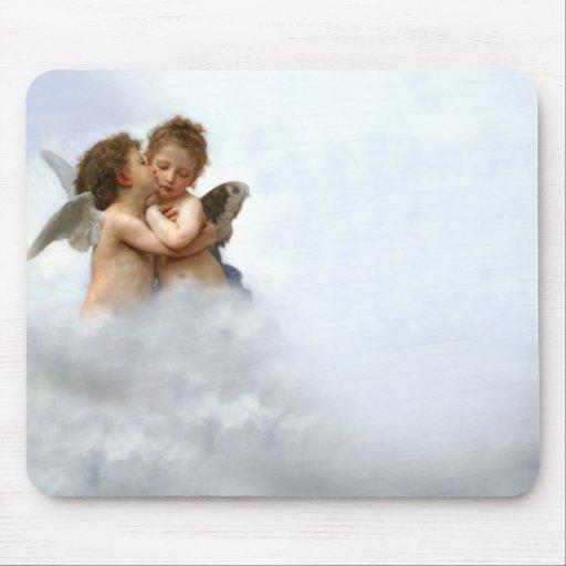 Cloud Angels Mouse Pads