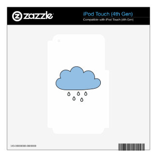 "Cloud  ""as right as rain"" decals for iPod touch 4G"