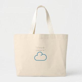cloud-aware T-Shirts Large Tote Bag