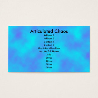 Cloud Background Business Card