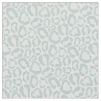Cloud Blue Leopard Animal Print Fabric
