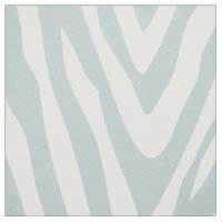 Cloud Blue Zebra Print Large Scale Fabric