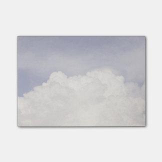 Cloud burst post-it notes