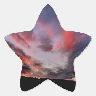Cloud Burst Star Sticker