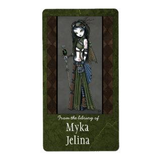 """Cloud Burst"" Steampunk Aviatrix Fairy Bookplate Label"