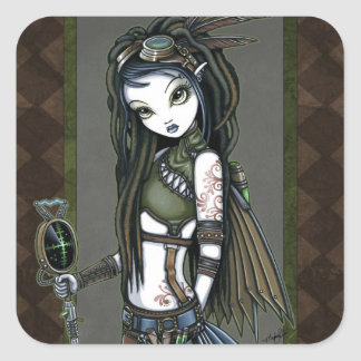 """Cloud Burst"" Steampunk Aviatrix Fairy Stickers"