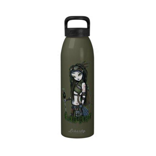 Cloud Burst Steampunk Aviatrix Fairy Water Bottle