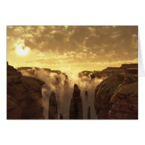 clouds, canyon, desert, sunset, Card with custom graphic design