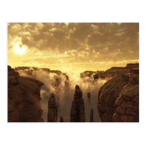 clouds, canyon, desert, sunset, Postcard with custom graphic design