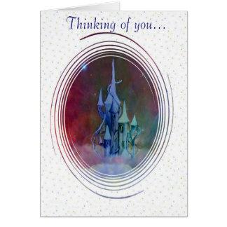 Cloud castle confetti card
