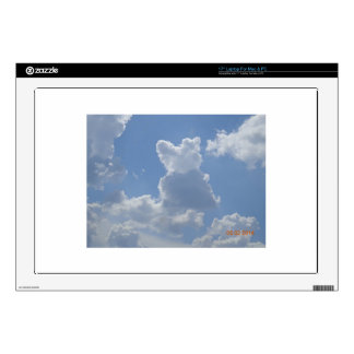 """Cloud cat watching the clouds ... decal for 17"""" laptop"""
