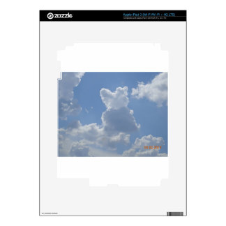 Cloud cat watching the clouds ... iPad 3 decals