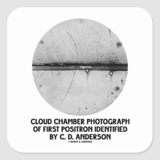 Cloud Chamber Photograph Of First Positron Square Sticker