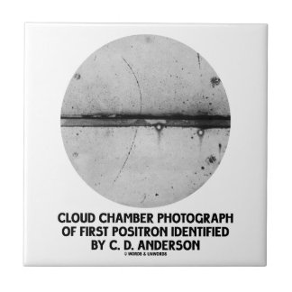 Cloud Chamber Photograph Of First Positron Tile