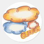 Cloud Classic Round Sticker