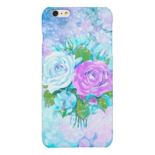 Cloud Colored Roses Glossy iPhone 6 Plus Case