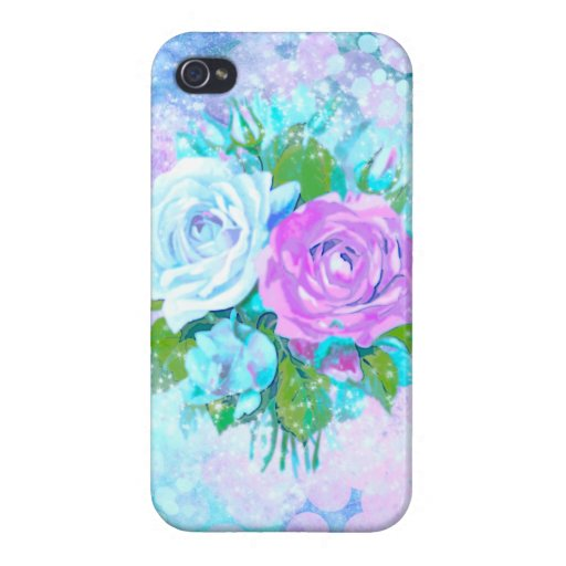 Cloud Colored Roses Case For iPhone 4