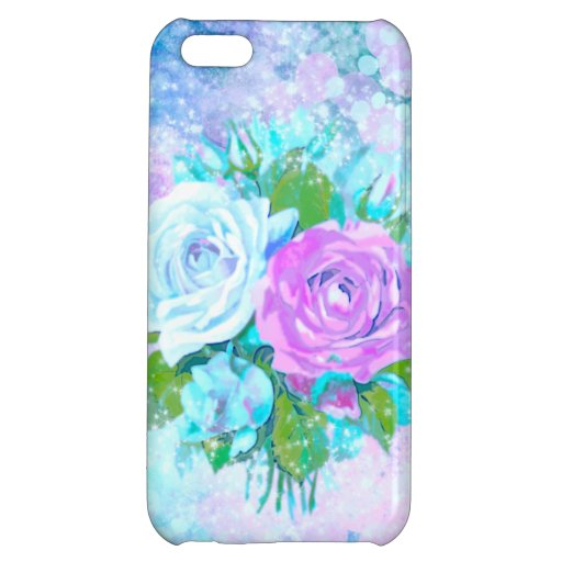 Cloud Colored Roses Case For iPhone 5C