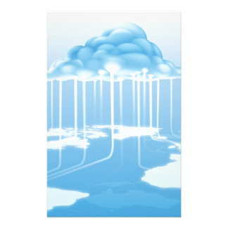 Cloud computer internet concept personalized stationery