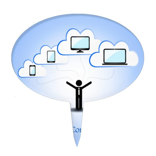 Cloud Computing Concept Cake Toppers