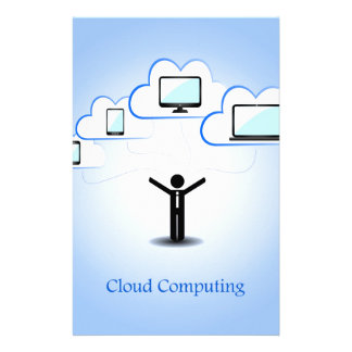 Cloud Computing Concept Personalized Stationery