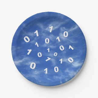Cloud Computing Data Paper Plates