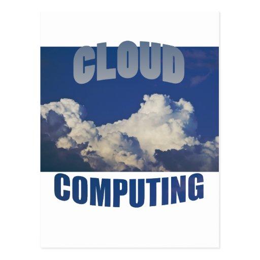 cloud computing postcard
