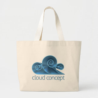 Cloud Concept Icon Large Tote Bag