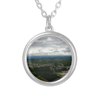 Cloud Cover Silver Plated Necklace