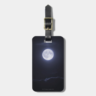 Cloud Covering Full Moon Luggage Tag