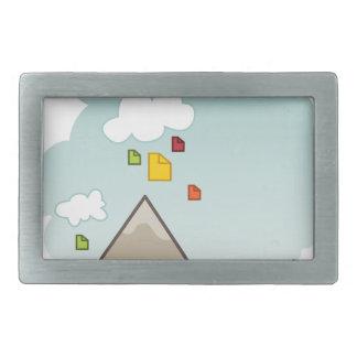 Cloud Data Storage Icon Belt Buckle