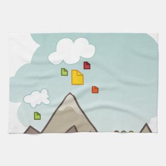 Cloud Data Storage Icon Kitchen Towel