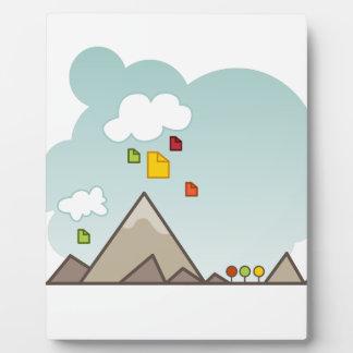 Cloud Data Storage Icon Plaque
