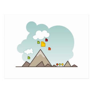 Cloud Data Storage Icon Postcard