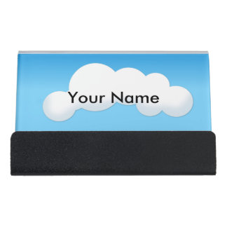 Cloud Desk Business Card Holder