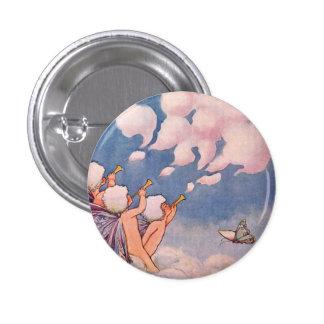 Cloud Faeries Making Clouds Pinback Button