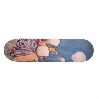Cloud Faeries Making Clouds Skateboard Deck