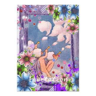 Cloud Faeries With Flowers Card