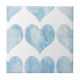 Cloud Filled Hearts Ceramic Tile