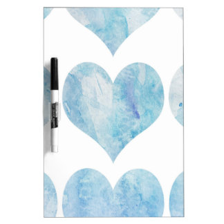 Cloud Filled Hearts Dry Erase Board