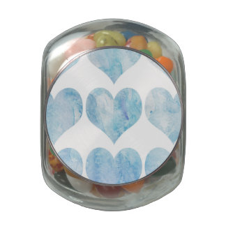 Cloud Filled Hearts Glass Candy Jar