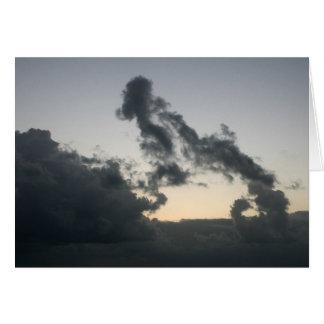 Cloud formation, dog skeleton? cartoon? card