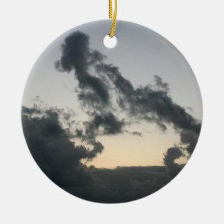 Cloud formation dog skeleton cartoon ornament