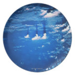 Cloud formation over the earth 2 melamine plate