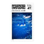 Cloud formation over the earth 2 postage stamp