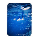 Cloud formation over the earth 2 rectangular photo magnet