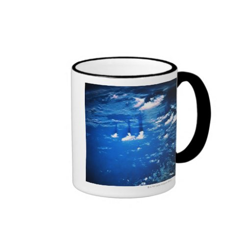 Cloud formation over the earth 2 ringer mug